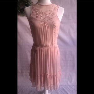 Embroidered Pink Dress! By Zara
